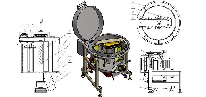 Бетонозмішувач лабораторний БЛП-20
