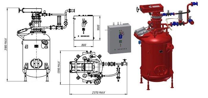 Комплекс подачі сипучих матеріалів насосом НК-40