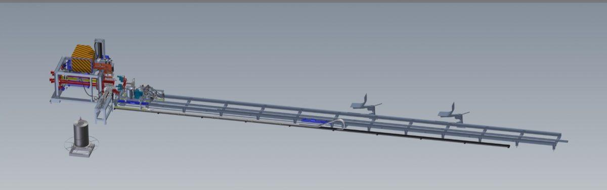 Полуавтоматическая установка для изготовления сварных арматурных каркасов ж/б свай