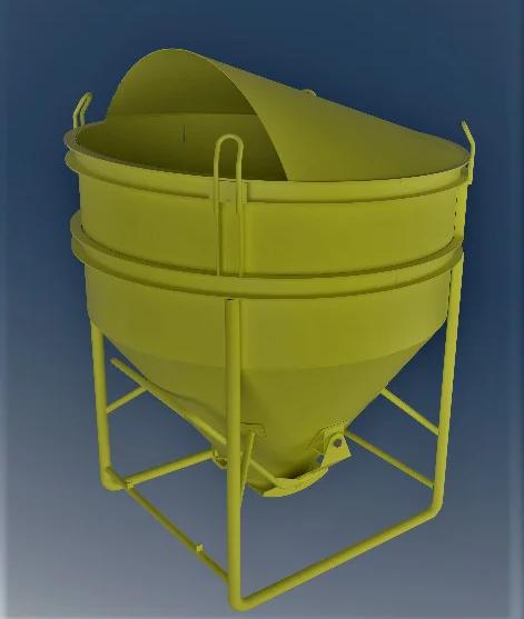 Бункер бетонной массы типа «Рюмка» ББМП — 2,0