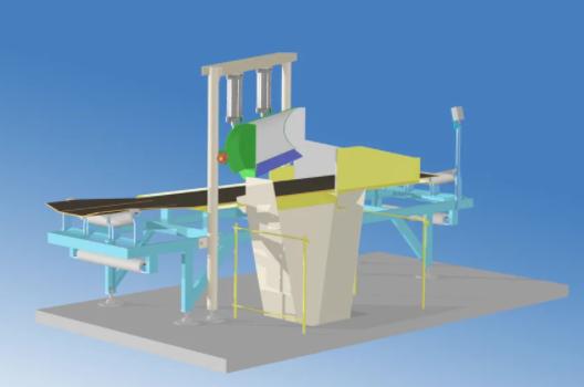 Разгрузочный отсекатель потока для ленточных конвейеров