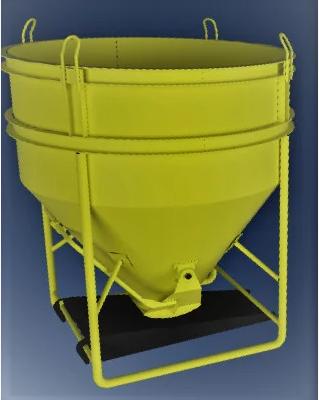 Бункер для бетона типа «Рюмка» ББМ — 0,75
